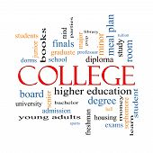 image of bachelor party  - College Word Cloud Concept with great terms such as tuition study student major and more - JPG