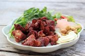 foto of nem  - Deep fried Fermented pork rib  - JPG