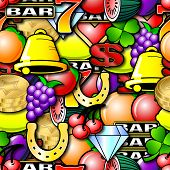stock photo of money prize  - Fruit machine symbols - JPG