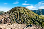 stock photo of bromo  - Tengger Caldera in Bromo national park  - JPG
