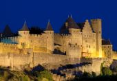 Medieval Town Of Carcassonne At Night poster