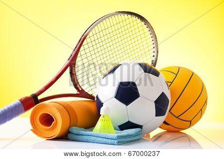 fitness equipment, sport activity concept
