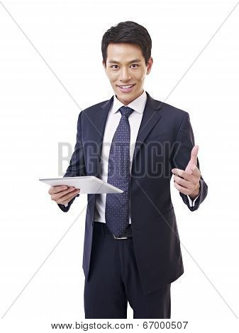 Asian Businessman With Tablet Computer