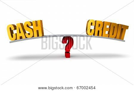 Choosing Between Cash Or Credit