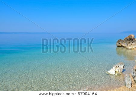 Clean adriatic coast