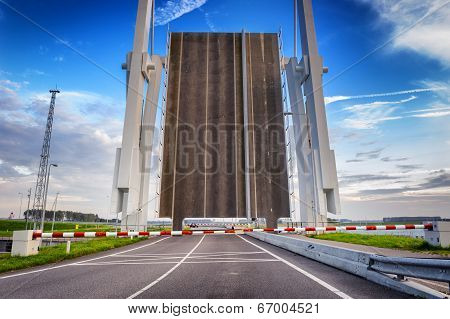 Open Drawbridge Over River