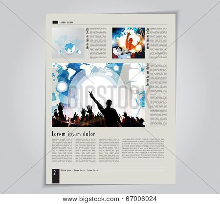 Template music magazine. Vector
