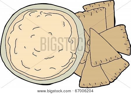 Isolated Pita And Dip