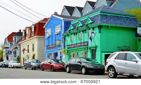 Row of colorful houses