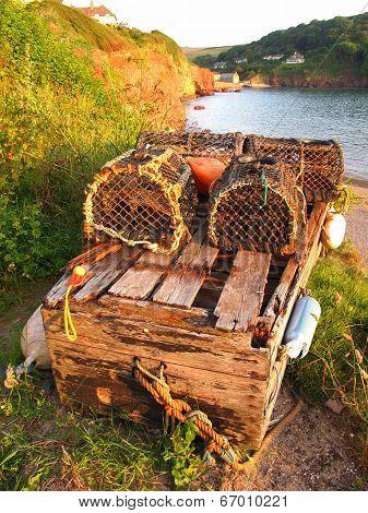 Fishing Creel Seascape
