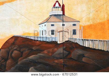 Mural tell te story of Saint John's