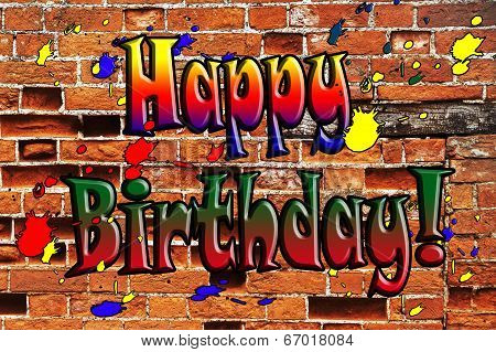 Happy Birthday Sign, Template, Banner or Design for Birthday Card.
