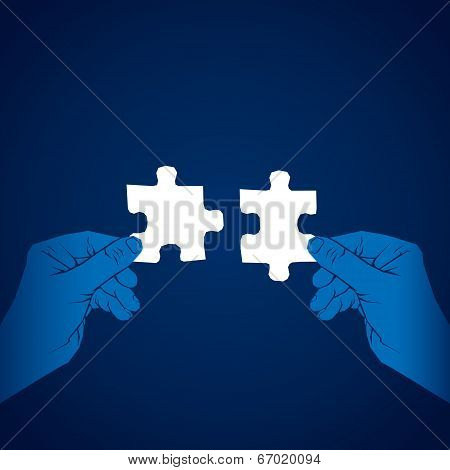 join puzzle piece concept vector