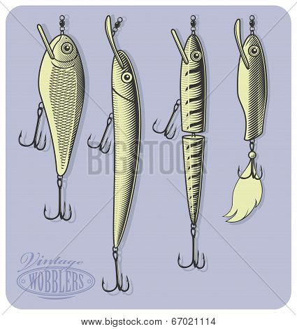 Artificial fishing lures (Wobblers)