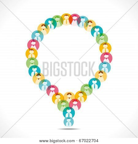 colorful people icon design message bubble