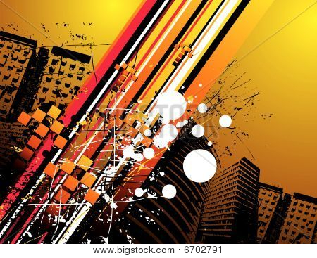 city grunge vector illustration