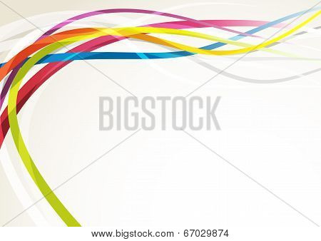 Bright Abstract Rainbow Swoosh Lines Background