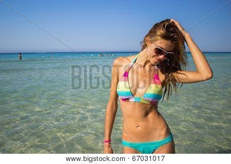 Summer bikini beautiful woman