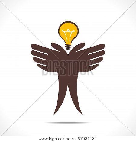 save energy or idea concept vector