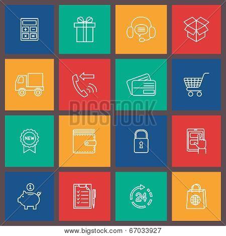 Shopping e-commerce icon
