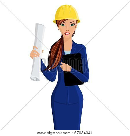Woman engineer portrait