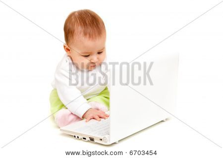 Baby At Laptop