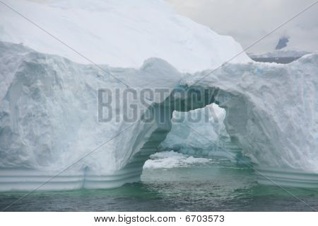 Arched Formations In Iceberg