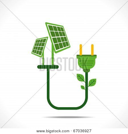 green energy by solar energy concept