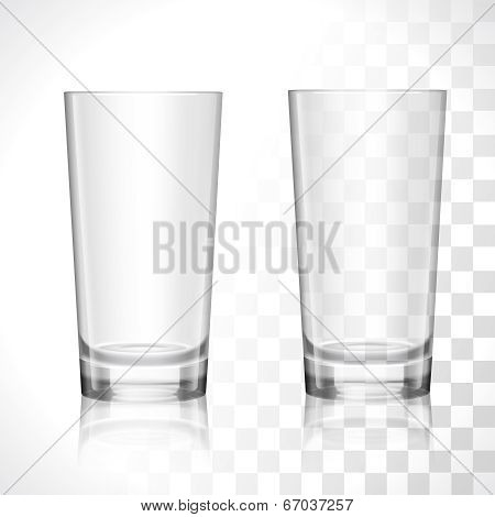 Empty glasses set