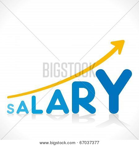 creative salary increment growth graphics design