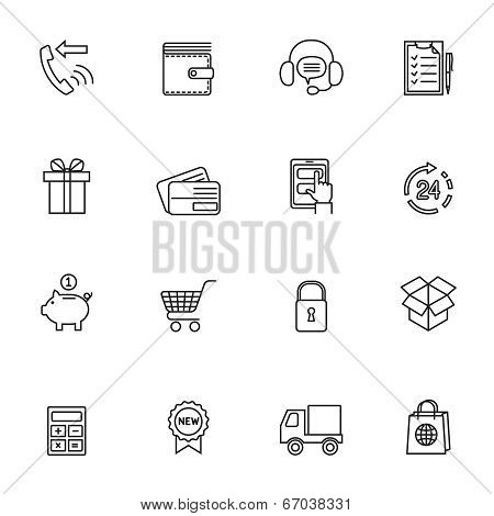 Shopping e-commerce icon