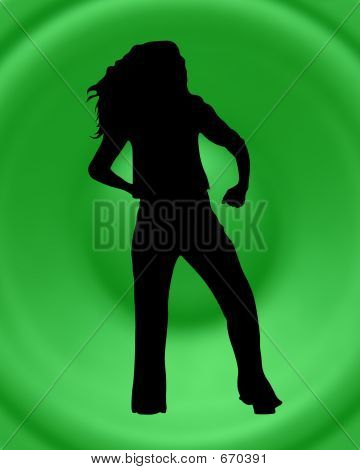 Dancing Silhouette Over The Speaker Background