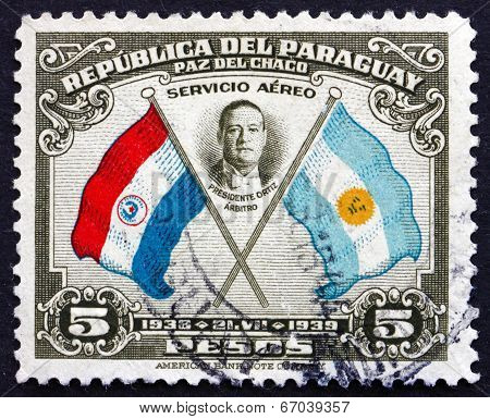 Postage Stamp Paraguay 1939 President Roberto Maria Ortiz, Chile