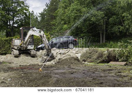 Watering The Roots Of Moved Bushes