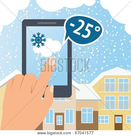 Weather smart phone snow
