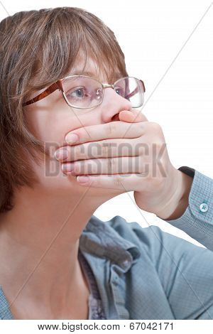 Arm Closing Mouth - Hand Gesture
