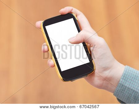 Cut Out Screen Of Smart Phone