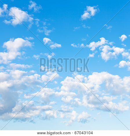 Many Little Fluffy Clouds In Blue Sky