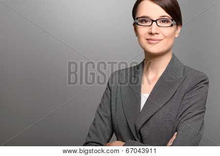 Businesswoman With A Friendly Expression
