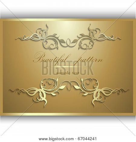 Gold Frame For An Inscription