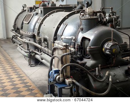 Detail Of An Old Turbo Generator
