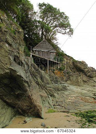 Beach Cliff House Seascape