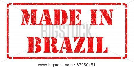 Made in Brazil - Red Rubber Stamp.