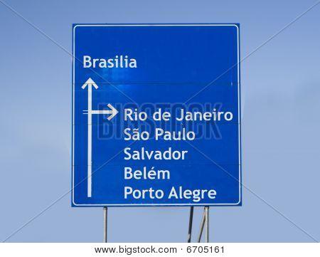 Road Sign Brazil