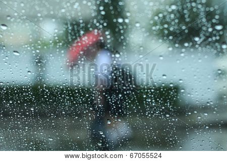 Raining And Umbrella
