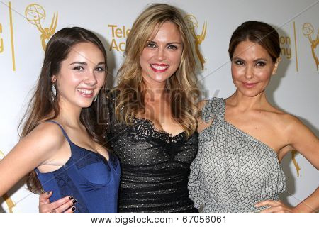 LOS ANGELES - JUN 19:  Haley Pullos, Kelly Sullivan, Lisa LoCicero at the ATAS Daytime Emmy Nominees Reception at the London Hotel on June 19, 2014 in West Hollywood, CA