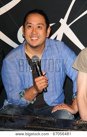 LOS ANGELES - JUN 18:  Joe Hahn at the Linkin Park Rockwalk Inducting Ceremony at the Guitar Center on June 18, 2014 in Los Angeles, CA