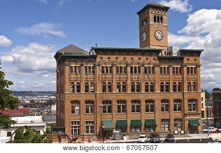 Clock Tower Building Tacoma Washington.