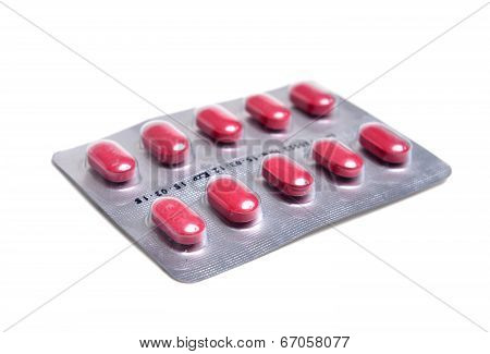 One Packs Of Pills Isolated