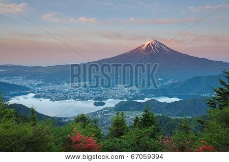 Mt Fuji in summer